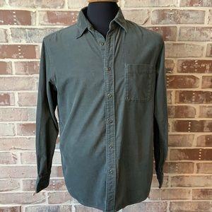Uniqlo Men's Corduroy Olive Green Shirt